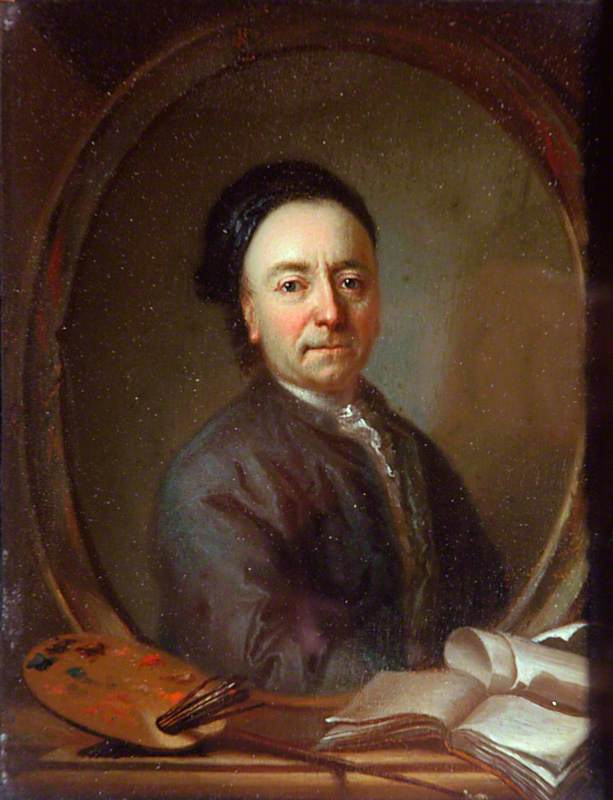 Portrait of the Artist with His Palette and Manuscripts