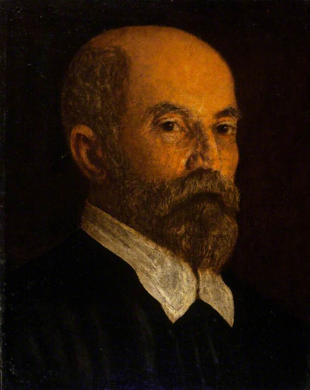 Portrait of a Bearded Man with a White Collar