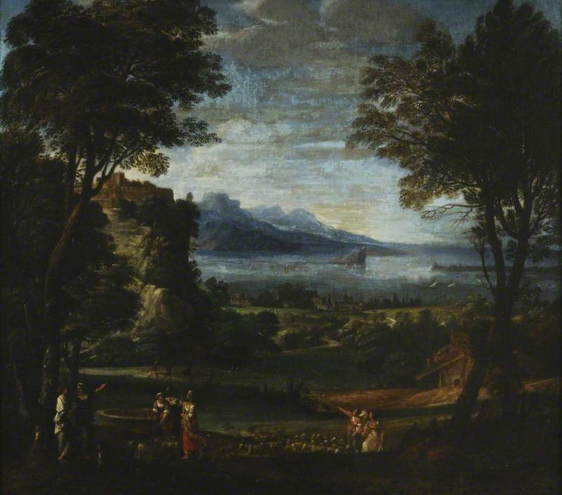 Landscape with the Daughters of Jethrow at the Well