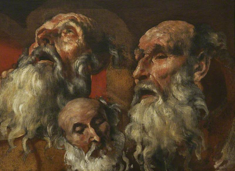 Three Studies of the Head of an Old Man