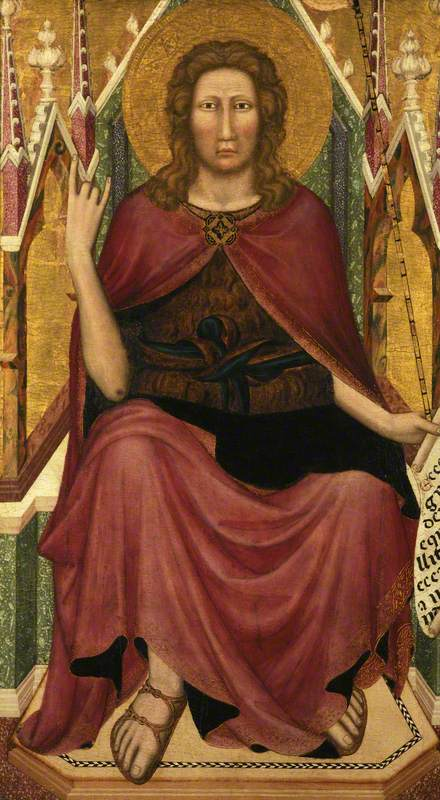 Saint John the Baptist Enthroned