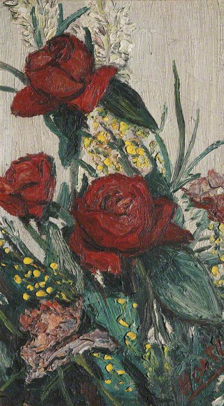 Still Life with Red Roses and Other Flowers