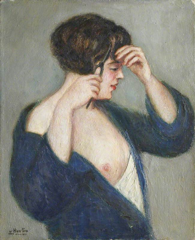 Portrait of a Lady in Navy Blue