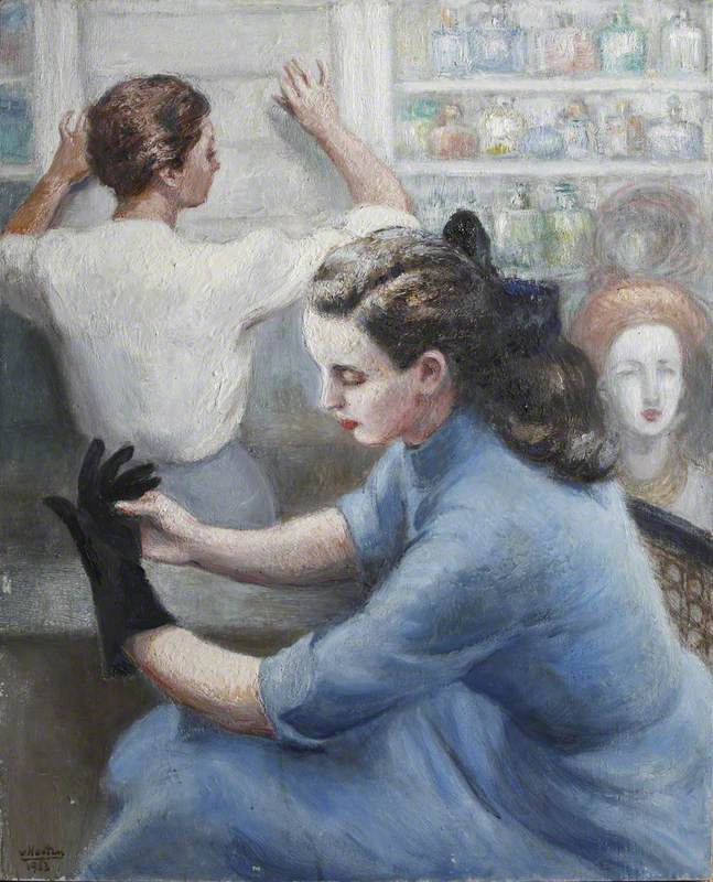 Lady Seated at Hairdressers (?)