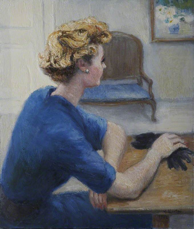 Lady with Black Gloves