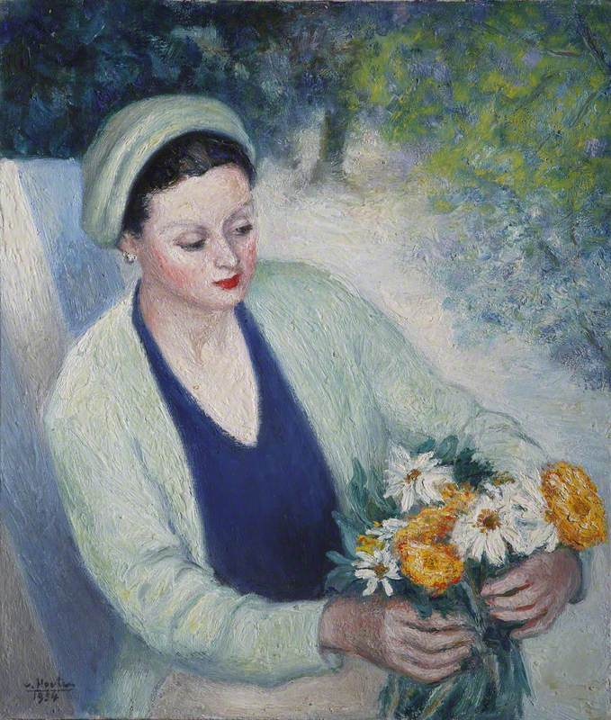 Lady Arranging Flowers