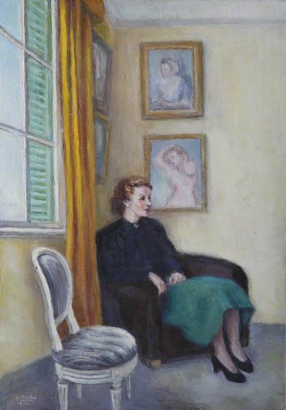 Seated Lady in a Black Jacket
