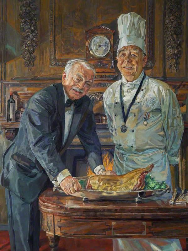 Jim Murden (b.1946), Chef (1976–2011), and Kevin Egleston (b.1946), Butler (1981–2011)