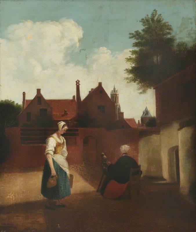 Women in a Garden