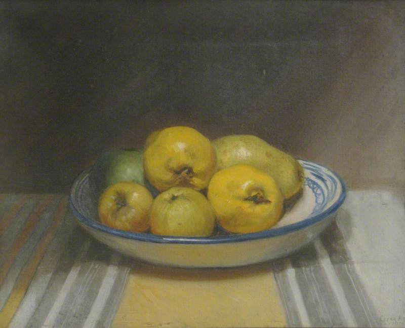 Dish of Apples and a Pear