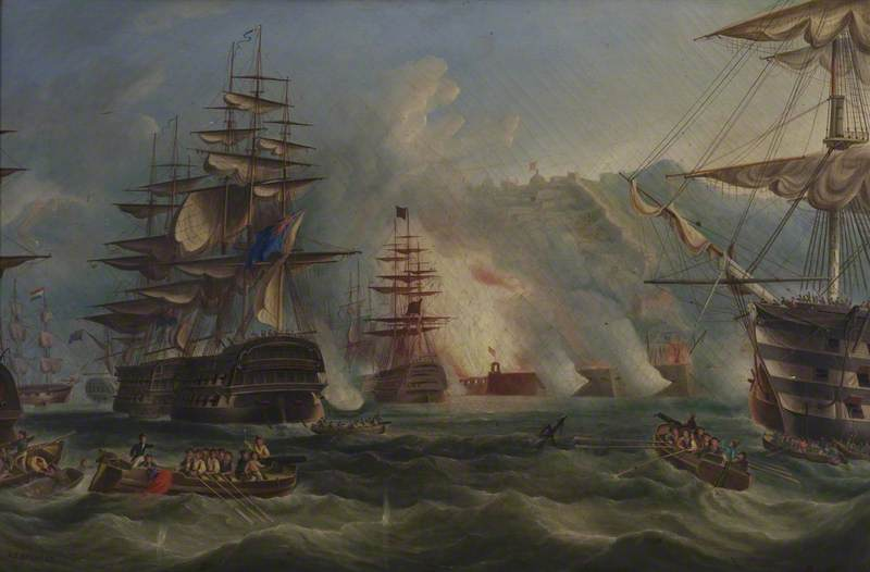 The Bombardment of Algiers, 1816