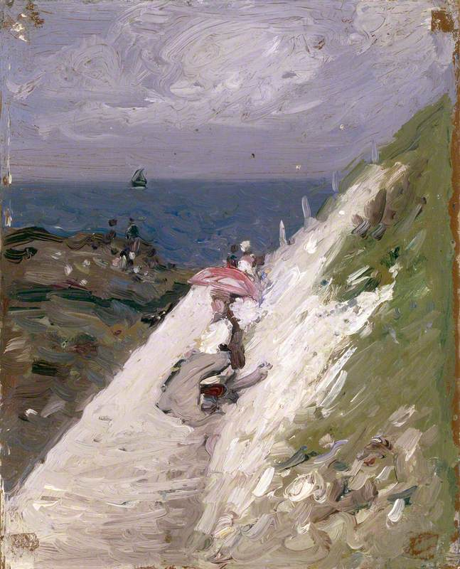 Seascape, Lady with Parasol