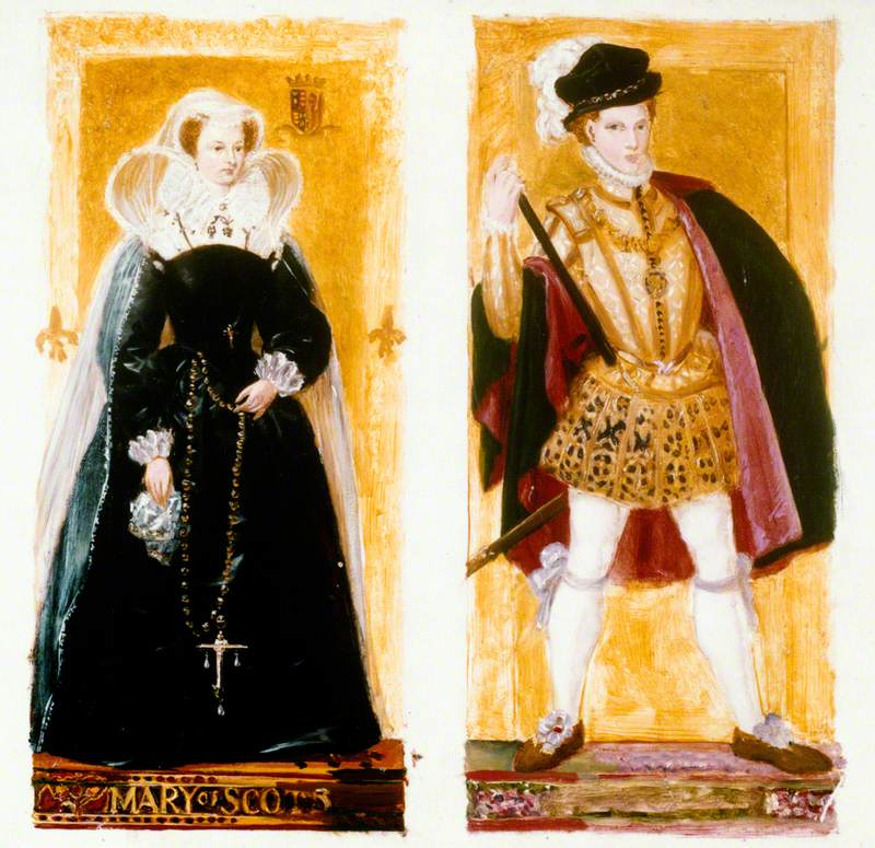 Preparatory Sketches of Mary, Queen of Scots and Lord Darnley