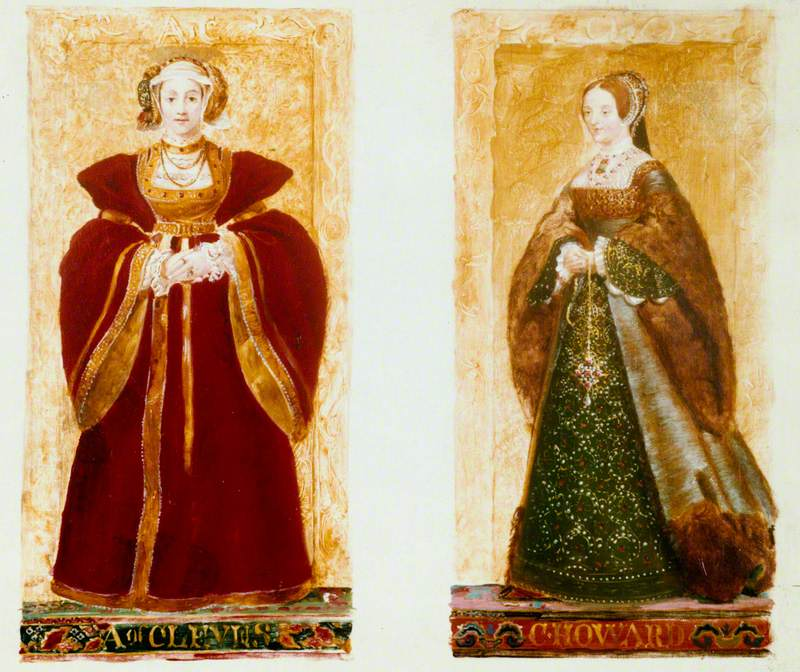 Preparatory Sketches of Anne of Cleves and Catherine Howard
