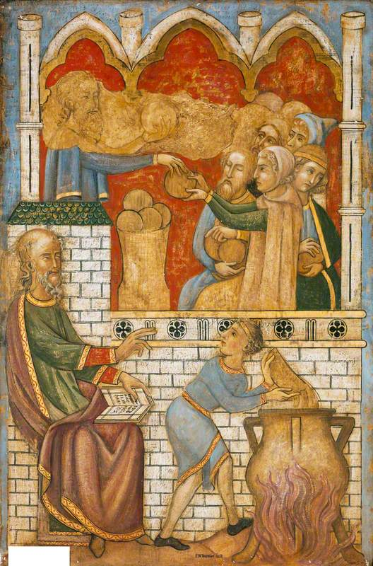 Reconstruction of Medieval Mural Painting, Miracles of Elisha
