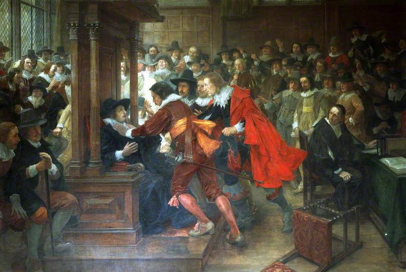 House of Commons, 1628–1629, Speaker Finch Held by Holles and Valentine