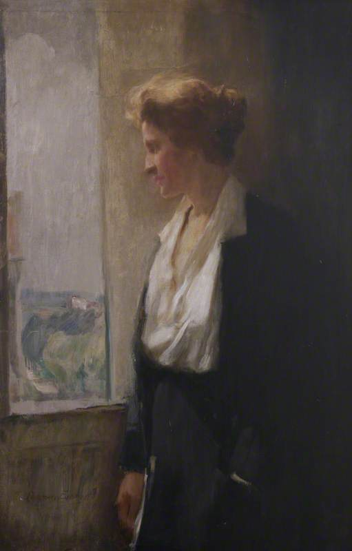 Lady Astor Standing at a Window