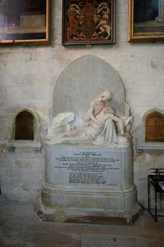 Memorial to Percy Bysshe Shelley