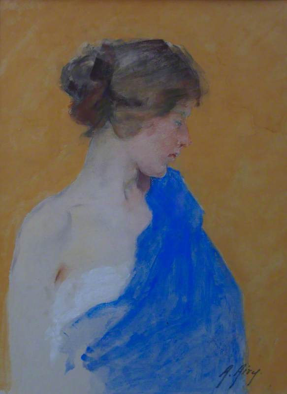 Portrait of a Girl with a Blue Dragon