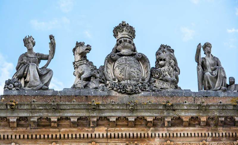 Allegorical Figures of Commerce and Plenty and Related Decorative Carving