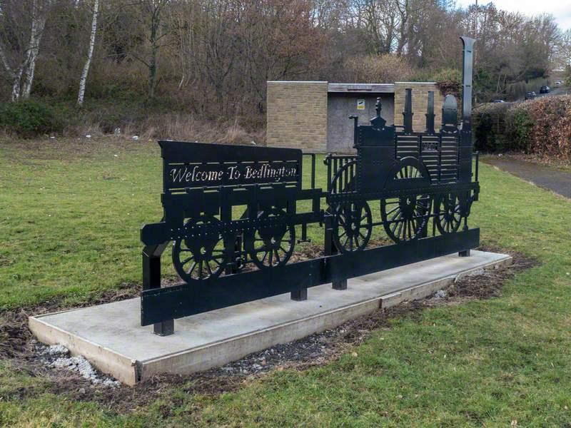 Bedlington Train Sign