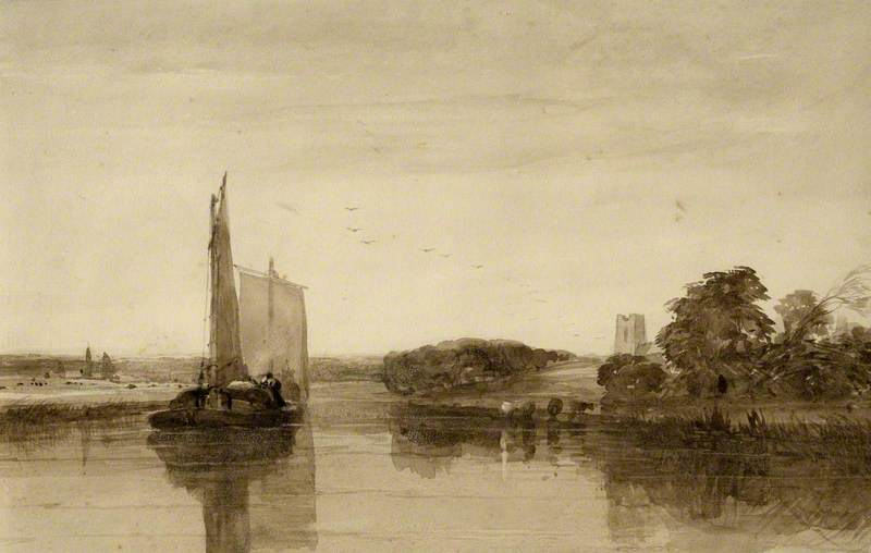 River Scene with Wherries