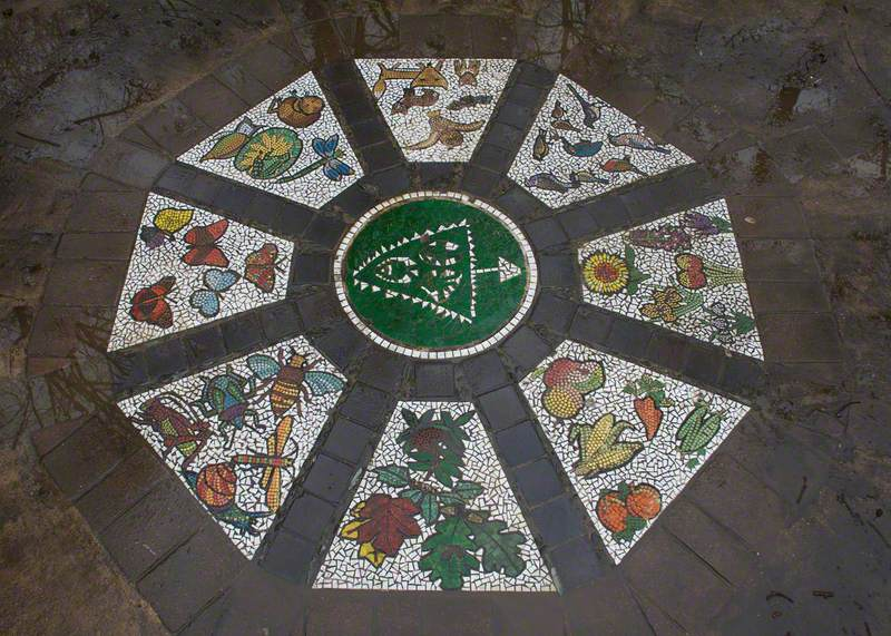 Triangle Garden Mosaic