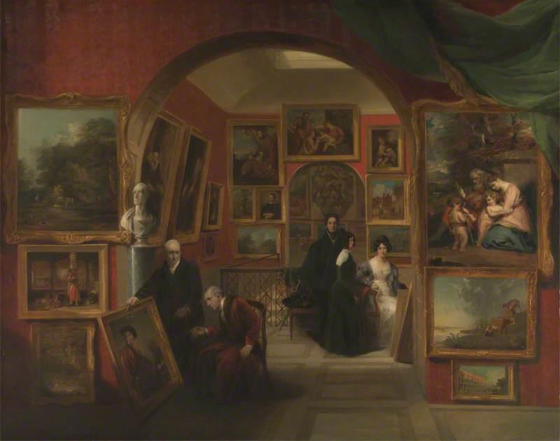 The Interior of the British Institution Gallery