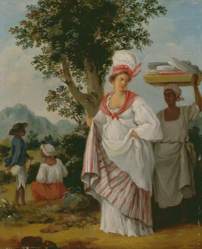 West Indian Creole Woman, with Her Black Servant