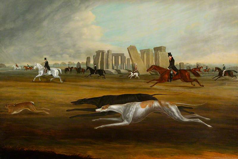 The Pinckney Family Coursing at Stonehenge, Wiltshire
