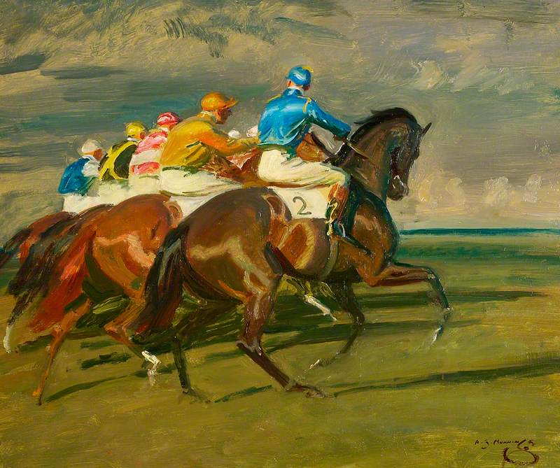 Study for 'Under Starter's Orders, Newmarket'