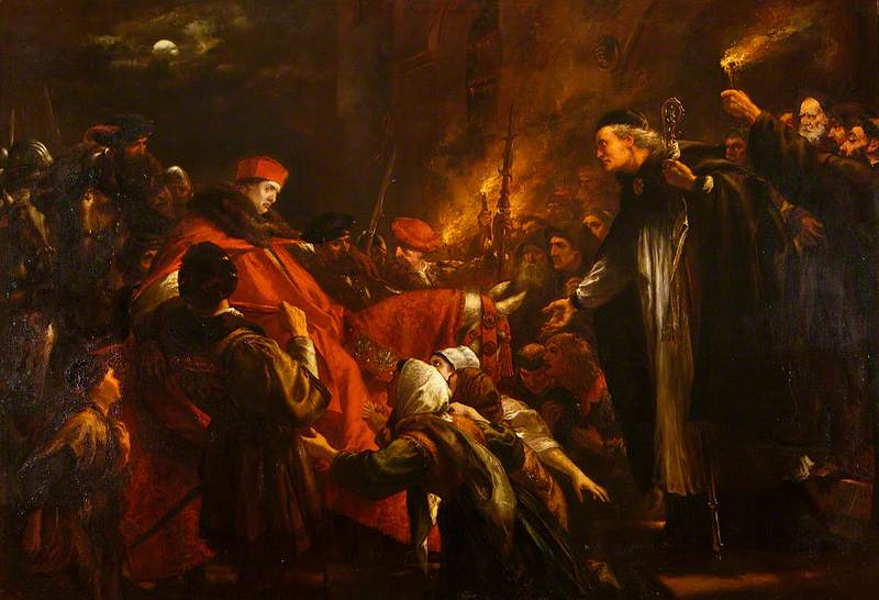 Cardinal Wolsey at Leicester Abbey