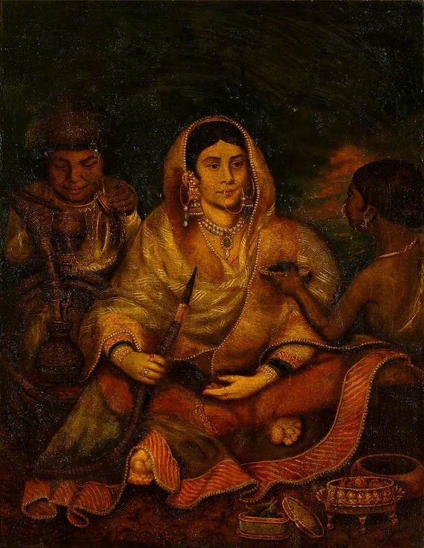 Indian Woman and Two Servants
