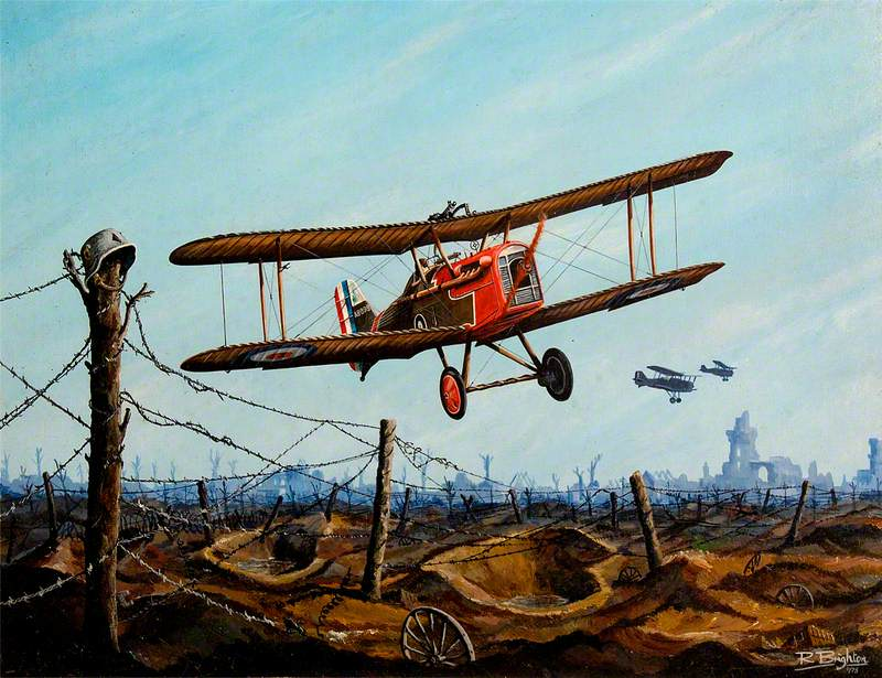 SE5 Over the Front during the First World War
