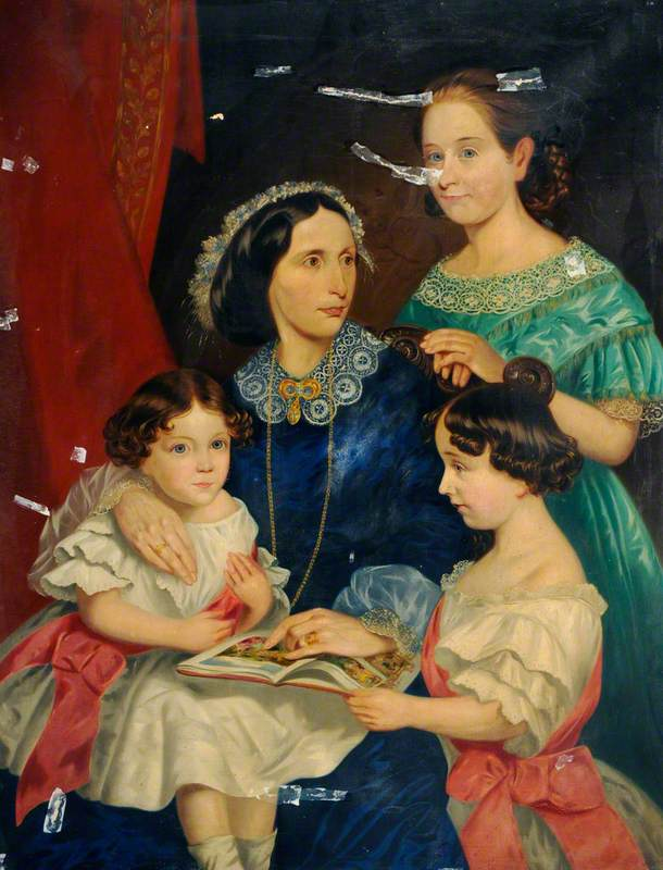 Mrs Sarah Bateman with Her Three Daughters
