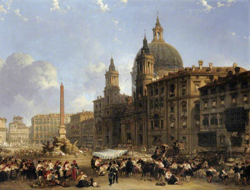 The Piazza Navona at Rome