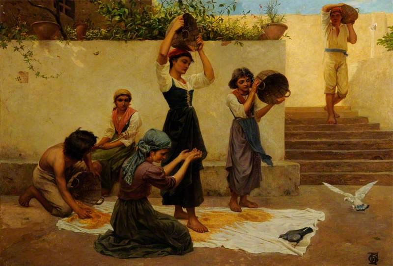 Capri Girls Winnowing Corn