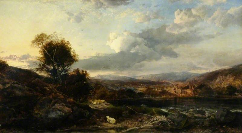 Mountainous Landscape with a Ruin