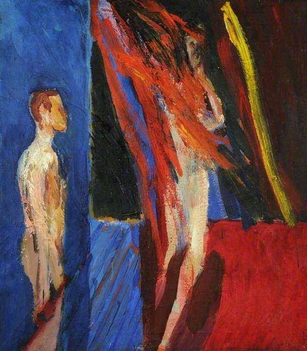 Figures, Red and Blue