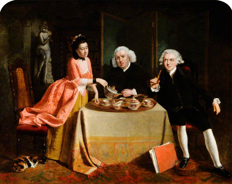 Dr Johnson and Sir Joshua Reynolds Taking Tea with Mrs Thrale
