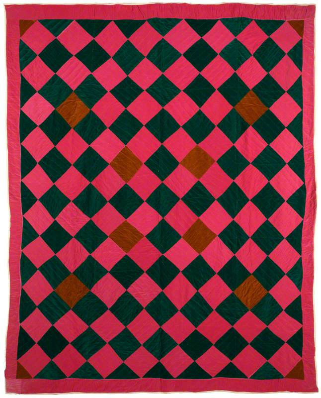Gee's Bend One-Patch Quilt – Diamonds Variation