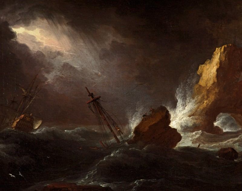 Seascape in Stormy Weather