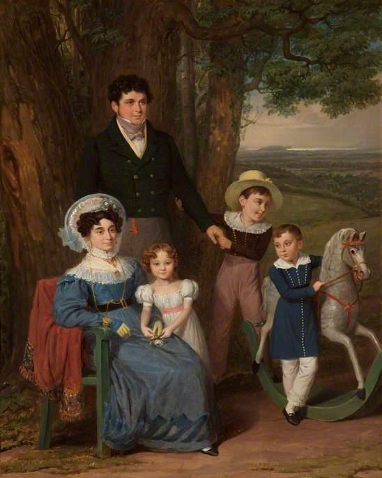 Reginald Henry Bean (d.1848), His Wife and Children