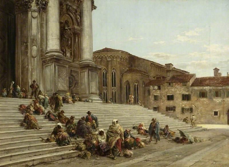 On the Steps of a Venetian Church