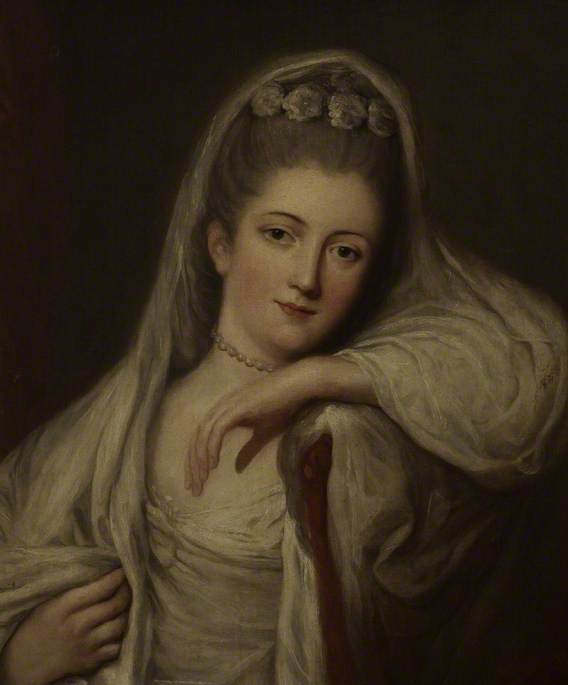 Miss Davis as a Bride