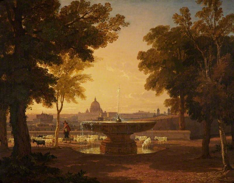 A Distant View of Saint Peter's, Rome