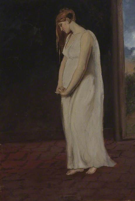 A Young Woman in White (Hands Clasped)