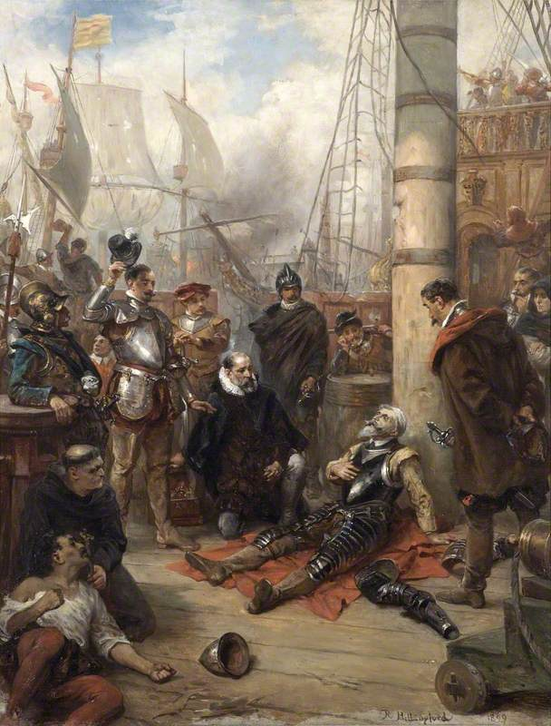 The Death of Captain Grenville, Captain of the 'Revenge'