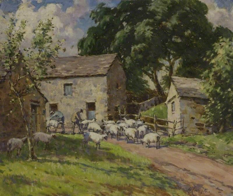 Sheepshearing in the Dales