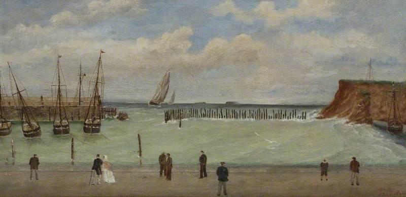 Watchet Harbour, before 1860